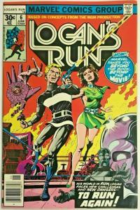 LOGAN'S RUN#6 VF/NM 1976 FIRST THANOS SOLO MARVEL BRONZE AGE COMICS
