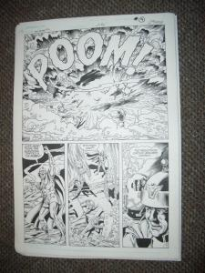 CURT SWAN ORIGINAL ART AQUAMAN #2 PG 7 -EXPLOSION PANEL FN