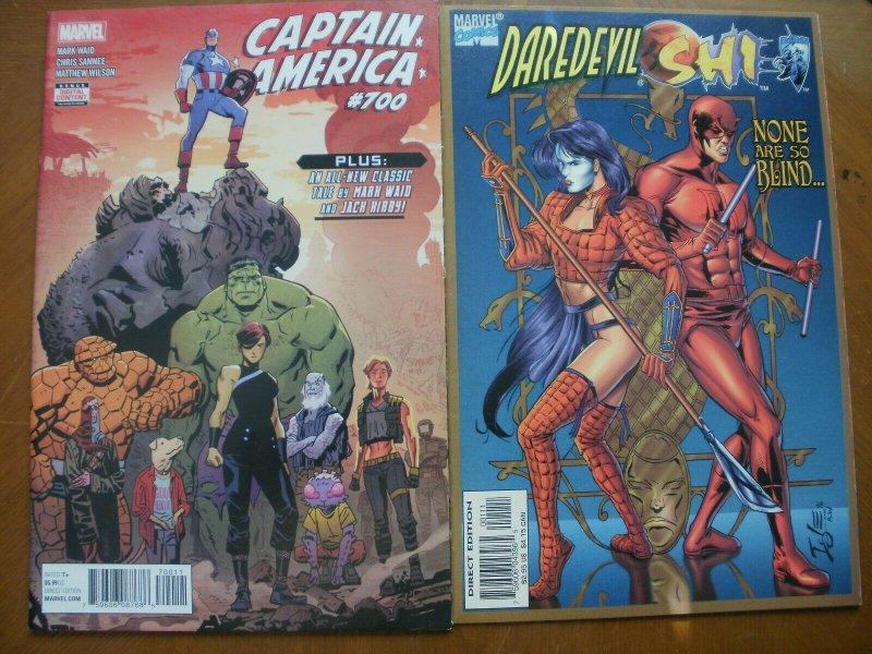 2 Near-Mint Marvel Comic: CAPTAIN AMERICA #700 (2018) & DAREDEVIL / SHI (1997)