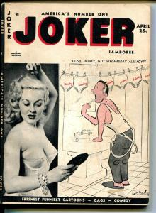 Joker 4/1954-Timely-cheesecakeWard-Wenzel-single page comics-VG+