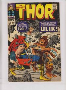 Thor [1967 Marvel] #137 VG first appearance of ulik the troll - jack kirby