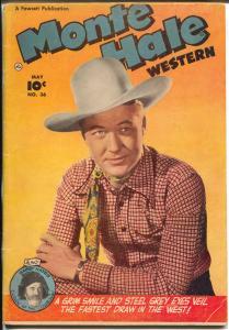 Monte Hall Western #36 1949-Fawcett-photovcover-Gabby Hayes-VG