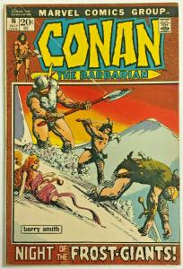 CONAN THE BARBARIAN#16 VG/FN 1972 MARVEL BRONZE AGE COMICS