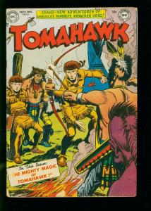 TOMAHAWK #8 1951- DC WESTERN -MIGHTY OF MAGIV- GOLDEN AGE VG
