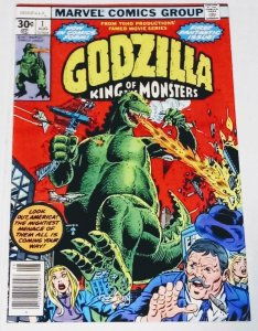 Godzilla #1 (8.5) King of the Monsters High Grade copy Bronze Age Marvel