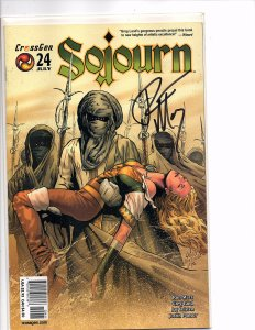 Crossgen Comics Sojourn #24 Greg Land Art Signed By Ron Marz With COA
