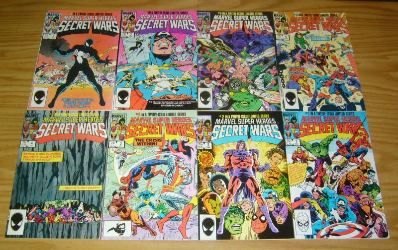 Secret Wars #1-12 VF/NM complete series - spider-man black costume 8 set lot