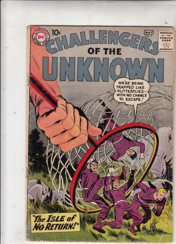Challengers of the Unknown #7 (May-59) VG+ Affordable-Grade Challengers of th...