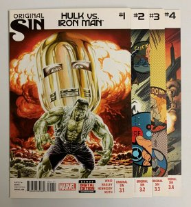 Original Sin Hulk Vs Iron Man #1-4 Set (Marvel 2014) 1 2 3 4 Mark Waid (9.2+)