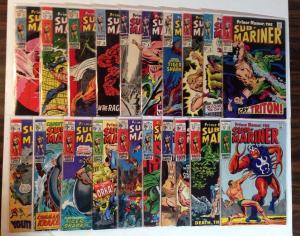 Prince Namor Sub Mariner 42 Book VG/FN Lot Set Run 2-13 17 18 Plus More