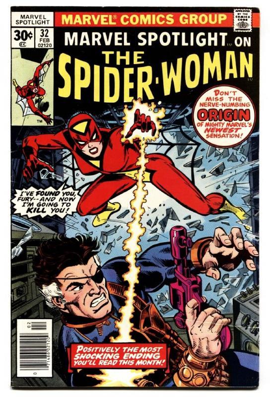 Marvel Spotlight #32 comic book spider-woman origin -Nick Fury-1977