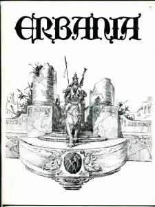 Erbania #37 1975 -Edgar Rice Burroughs-Tarzan-Roy Krenkel info-pix- FN/VF