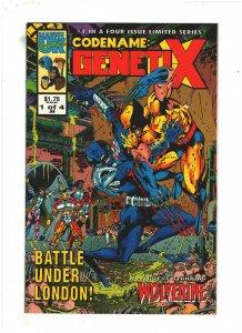 Codename: Genetix #1 NM- 9.2 Marvel UK Comics 1993 vs. Wolverine