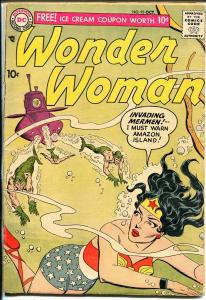 Wonder Woman #93 1957-DC-Invasion Of The Mermen-Flying Saucer-VG