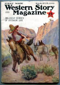 Western Story Magazine Pulp March 10 1923- Johnston McCulley VG+