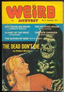 Weird Mystery-Summer 1971-skull cover-pulp thrills-Robert Bloch-Rog Phillips-VG