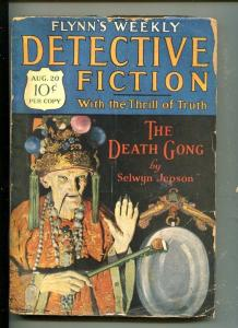 FLYNN'S WEEKLY DETECTIVE FICTION-AUG  20 1927-MYSTERY-ORIENTAL VILLIAN-good