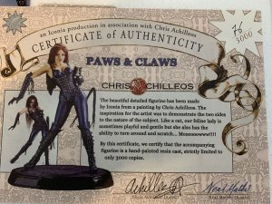 """Chris Achilleos: 2D to 3D Paws & Claws Statue 13"""" Limited 76/3000 ICONA"""