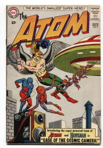 ATOM #7 1963-comic book-First ATOM and HAWKMAN team-up