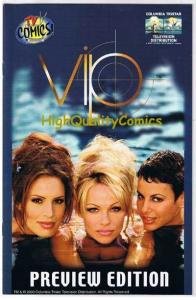 VIP Preview, Pamela Anderson, Photo cover w/pals, 2000, VF