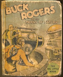 Buck Rogers On The Moons Of Saturn #1143 1934-Whitman-Big Little Book-P