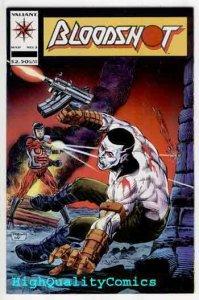 BLOODSHOT #2, NM+, Valiant, 1993, X-O Man of War, Guns fight, more in store