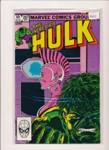 Marvel Comics The INCREDIBLE HULK #287 1983 FINE/VERY FINE (PF16)