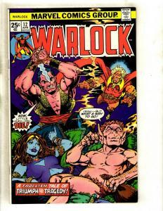 Warlock # 12 NM- Marvel Comic Book Thanos Avengers Hulk Thor Gamora Pip GK4