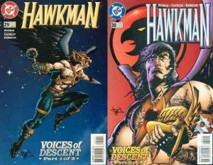 HAWKMAN (1993) 29-30  Voices Of Descent