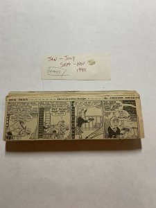 Dick Tracy Newspaper Comics Strip 1940 Daily Dailies InComplete Black And White