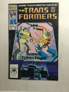 Transformers 24 Nm Near Mint Death Of Optimus Prime Marvel Comics