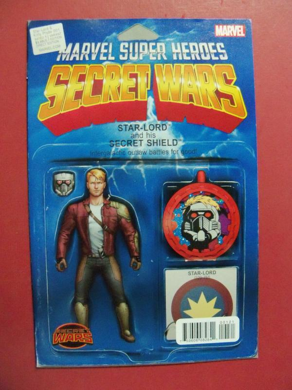 MARVEL SUPER HEROS SECRET WARS #1,STAR LORD ACTION FIGURE  VARIANT COVER, MARVEL