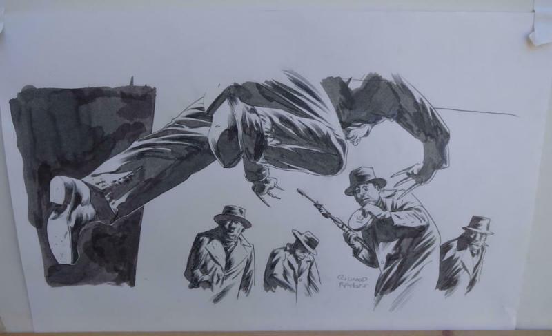 RICHARD ISANOVE original art, SAVAGE WOLVERINE #14, Signed, Dark Tower artist