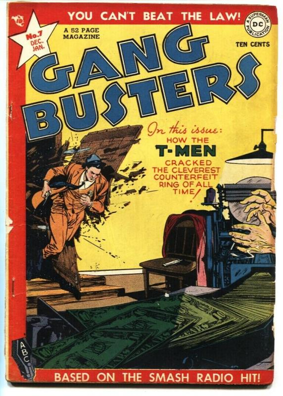 Gang Busters #7 1948-DC Comics-Larry Kingston-King of the Bank Robbers!