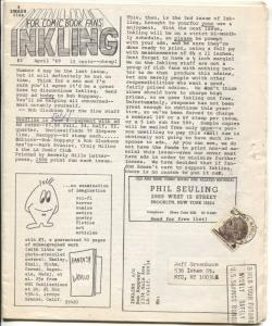 Inking #3 1969-Rob Gluckson-L.A. Comic Book Clup-Keith Tucker-VG