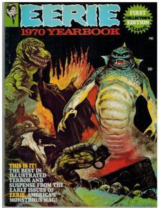 EERIE YRBK 1970 F-VF FRAZETTA COVER COLLAGE,#1-12 REPRI COMICS BOOK