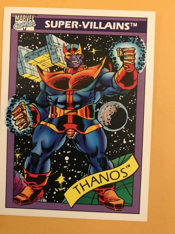 THANOS #79 : 1990 Marvel Universe Series 1 card, NM/M,  1st card appearance