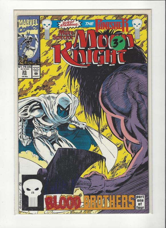 Marc Spector: Moon Knight #35 Punisher App NM