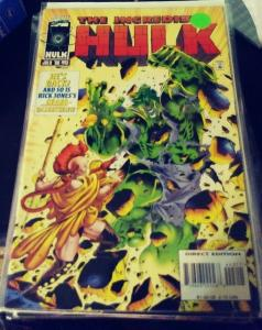 incredible hulk  # 443 1996  MARVEL  rick jones  green hulk returns