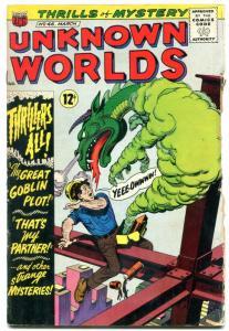 Unknown Worlds #46 1966- ACG Silver Age- Frankenstein G