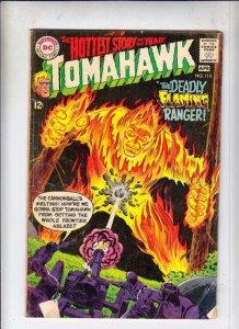Tomahawk # 115 Strict VG Cover Flaming Ranger!