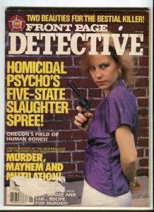 FRONT PAGE DETECTIVE-MAY/1990-MURDER-HOMICIDAL PSYCHO'S-GYPSY-MUTILATION G/VG