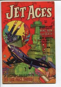 JET ACES #3-FICTION HOUSE WAR GOLDEN AGE FN