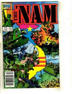 Lot of 12 The 'Nam Marvel Comic Books 1 2 3 4 5 6 7 8 9 10 11 12 Vietnam War DS1
