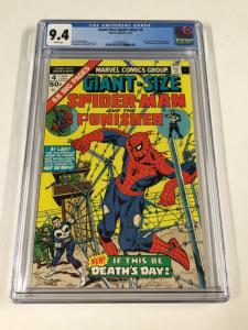 Giant-Size Spider-man 4 Cgc 9.4 White Pages