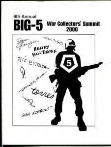 Big-5 Collectors Convemtion Program Book-6th Annual-Ric Estrada-Russ Heath-VF