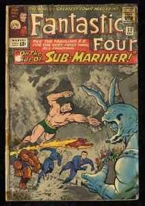 Fantastic Four #33 GD+ 2.5 1st Attuma!