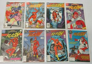 Flash comic lot from:#2-49 2nd Series 24 different books 8.0 VF (1987 to 1991)