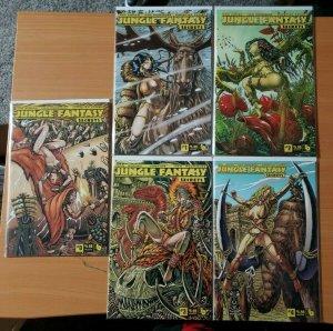 Jungle Fantasy Secrets 0 + 1-4 Wraparound VARIANT Complete Set Run! ~ NM ~