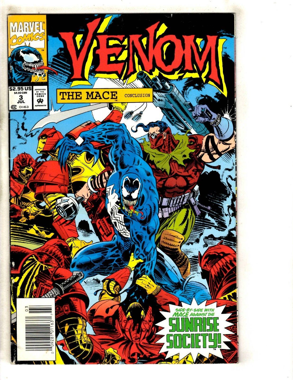 6 Marvel Comics Venom Mace 3 Spider-Man 362 363 Venom 1